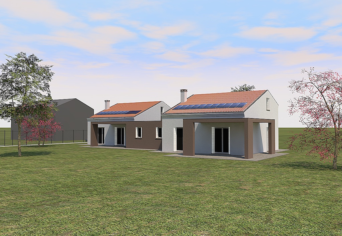 2014 piccola bifamiliare piano casa geom paolo gollo for Piani casa economicamente efficienti